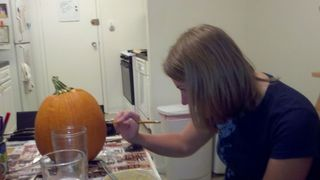 Apple picking and pumpkin carving smack down! 17